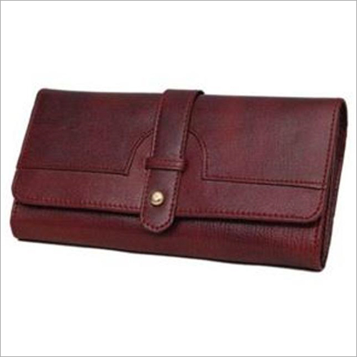Leather Cherry Color Ladies Wallet