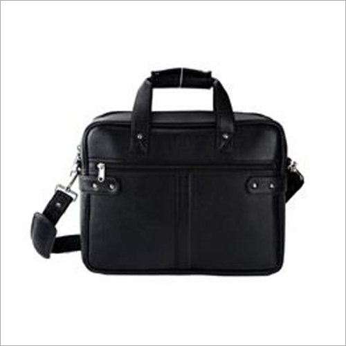 Leather Double Zipper Laptop Bag