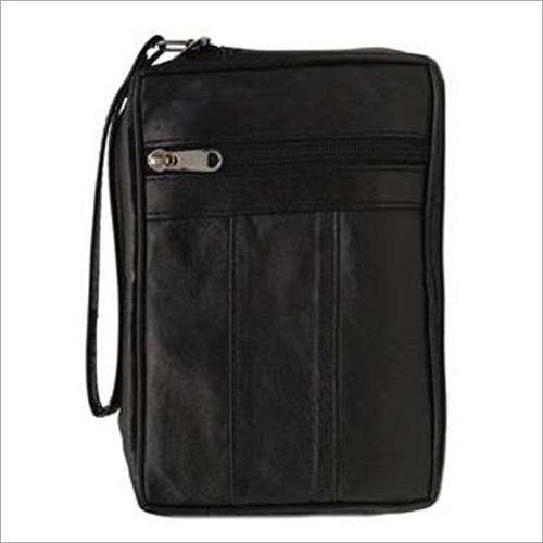 Leather Black Sheep Single Zip Pouch Bag