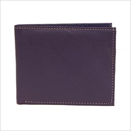 Mens Blue Leather Wallet