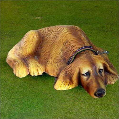 Fiber Doggy Statue