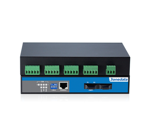 4-port RS-485 to 2-port Fiber Converter