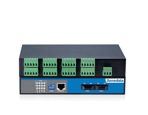 8-port RS-485 to 2-port Fiber Converter