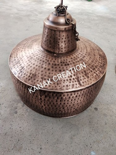 Industrial lamp with copper coating