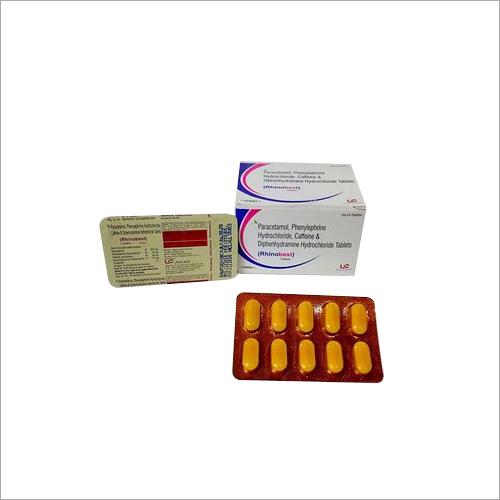 Paracetamol 500mg, Phenylephrine 10mg, Caffeine 30mg, Diphenhydramine Hydrochloride 25mg Tablets
