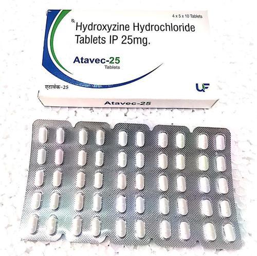 Hydroxyzine HCL 25mg Tablets