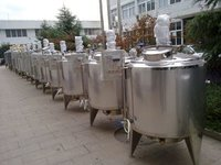 1000 LTR Round SS 304 Stainless Steel Tank For Cooling Storage Fresh Milk