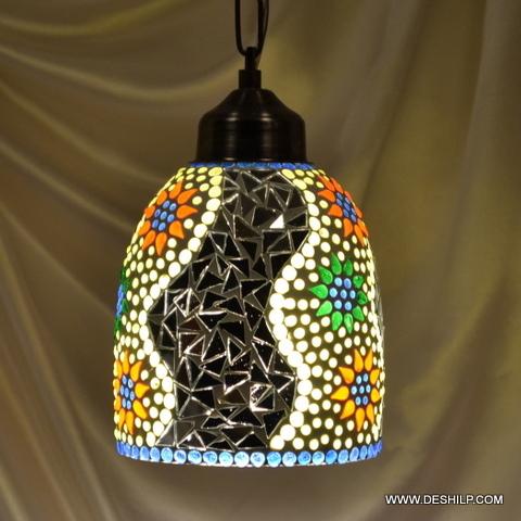 Multi Mosaic Glass Wall Lamp