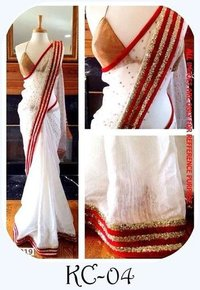 Pure Kora Chandari Paitani Saree