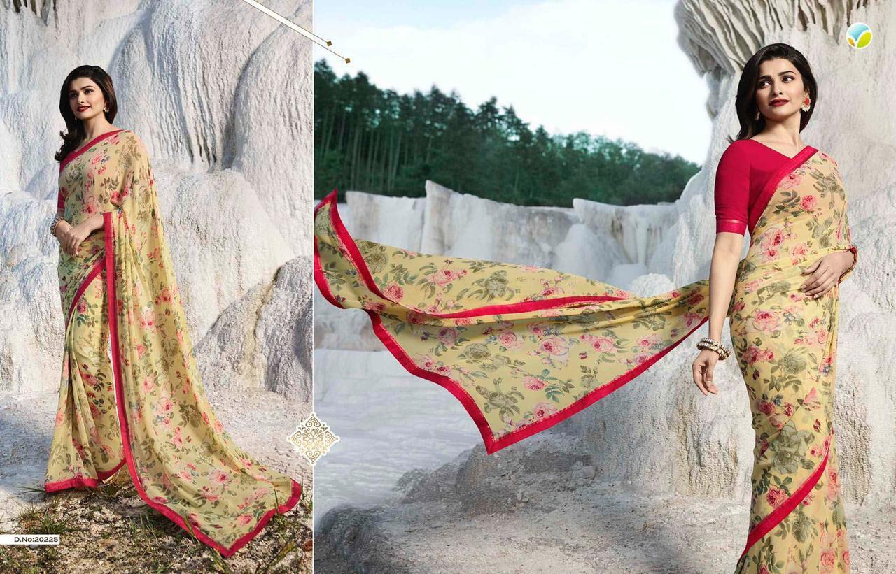 Fancy Geogette Printed Saree