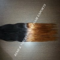 Silky Straight Ombre Colored Human Hair Weave Bundles