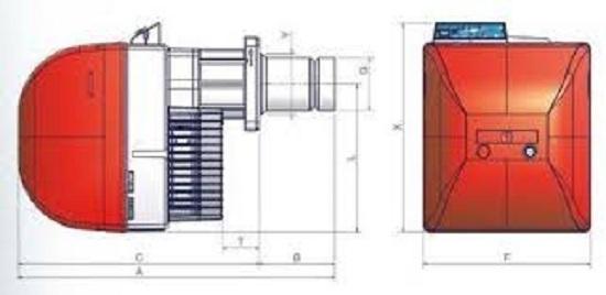 Unigas Make Gas Burners LO - 280/400/550