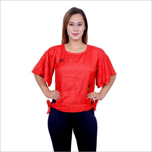 Ladies Round Neck Casual Top