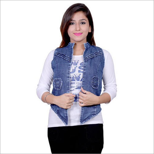 Ladies Trendy Denim Top