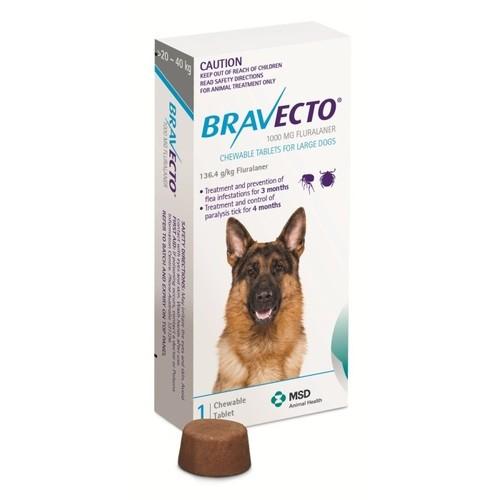 BRAVECTO 1000MG (20-40KG)-FLURALANER 1000MG