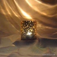 Silver T Light Candle Votive