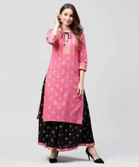Ladies Long Kurtis with Palazzo
