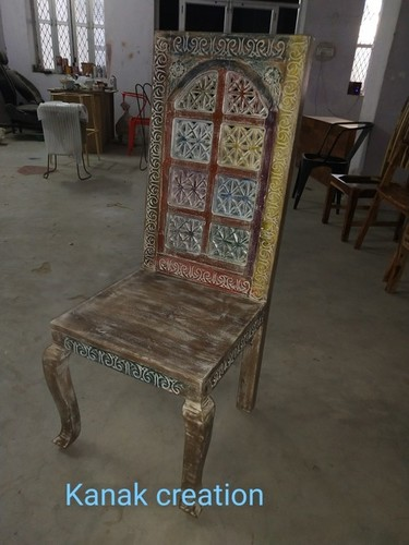 Antique Reclaimed wood  Dining Chair