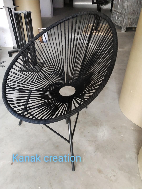 Vintage Industrial Round Arm Chair