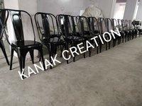 Industrial Tolix Style Matte Black Chair