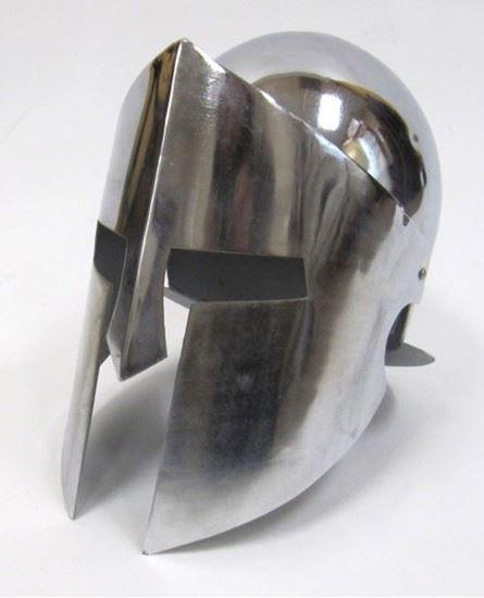 Armor Helmet With Chrome Finish