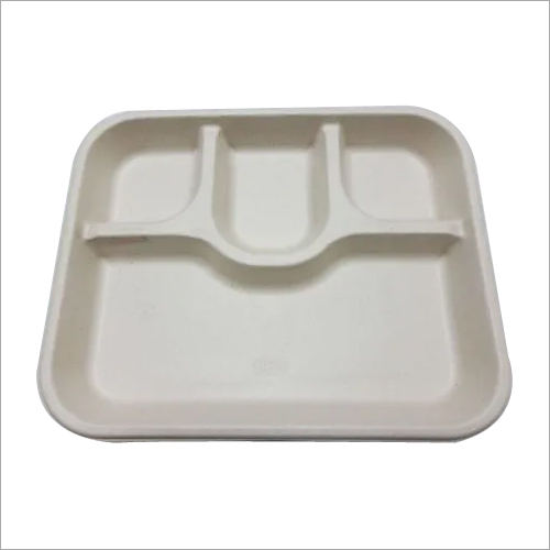 4 SECTION BAGASSE TRAY