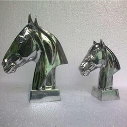 Aluminum Horse Head Sculpture