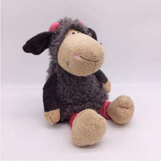 candice guo! super cute NICI plush toy stuffed Jolly Mah Lucy sheep gray skirt lamb girl birthday gift 35cm 1pc