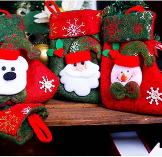 Smiry 1pc Drop Cartoon Santa Claus Bear Creative Festival Party Christmas Cloth Bags Crafts Children Candy Holder Storage Bags