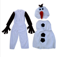 Comfy Deluxe Plush Adorable Child Olaf Halloween Costume For Toddler Kids Favorite Cartoon Movie Snowman Party Dress-up 18m-7y