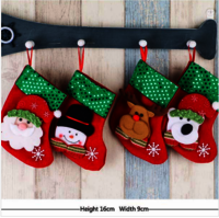 Smiry 4pcs/Set Cartoon Christmas Tree Santa Socks Hanging Ornaments Decoration Fairy tale Christmas Festival Decoration Crafts