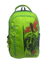 Caris Printed College Bag Green