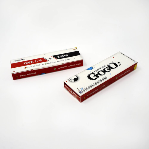 Rolling Paper with Filter Tips One 1by4 Bleached White