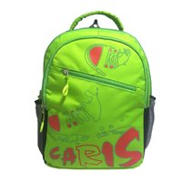 Caris Shoe Print Green Backpack Bag