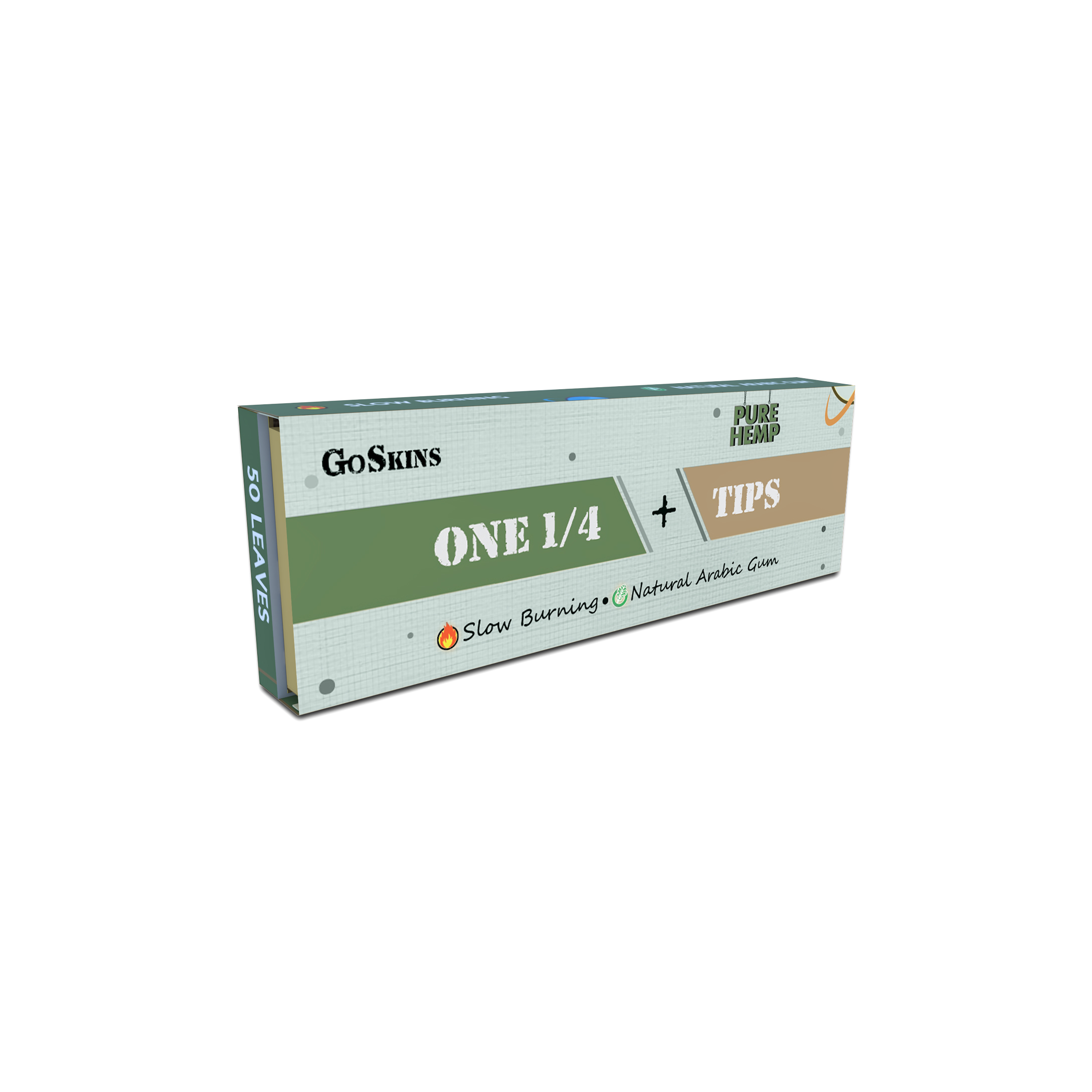 Rolling Paper With Filter Tips One 1by4 Pure Hemp