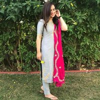 Fancy Cotton Kurti With Dupatta