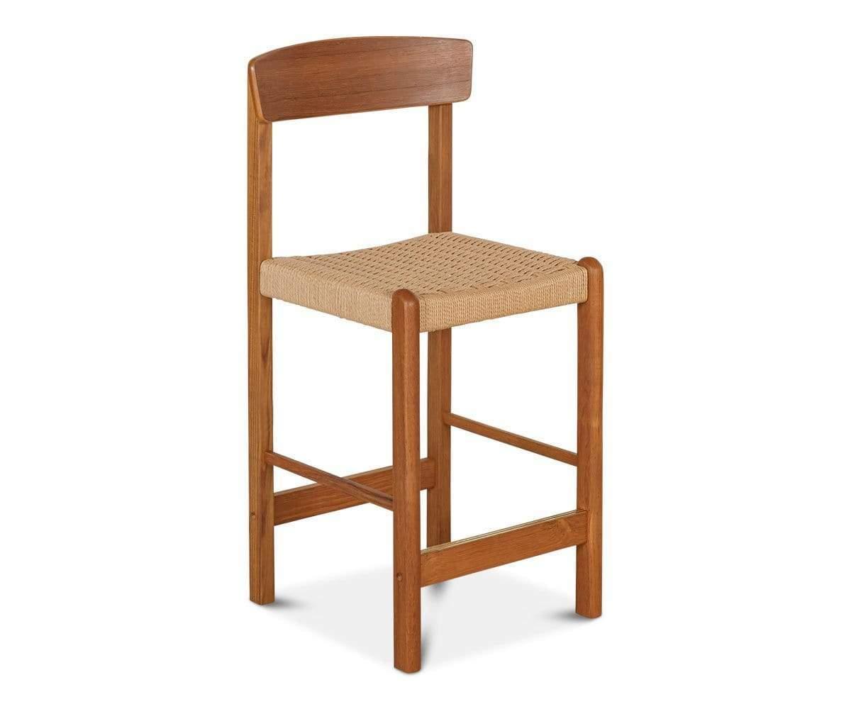 Rattan Wooden Chair, Vintage Chair.