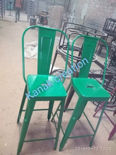Industrial Green Metal Tolix Chairs