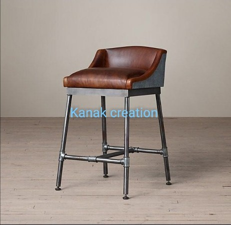 Comfortable leather seat top bar chairs
