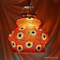 Orange Color Glass Wall Hanging