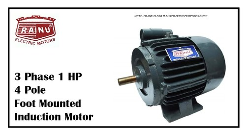 3 Phase 1 HP Electric Motor