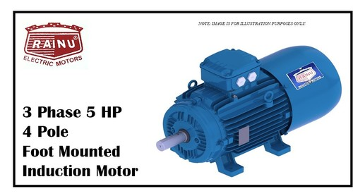 3 Phase 5 HP Electric Motor