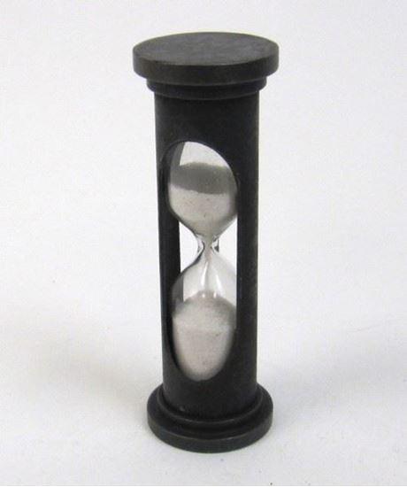 Aluminum sand timer hourglass 1 minute