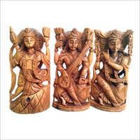 Wooden Carved God Statue