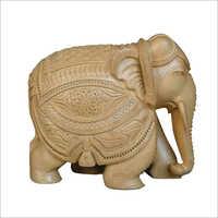 Wooden Carved Designer Elephant