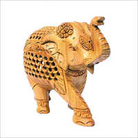 Wooden Brown Carved Elephant