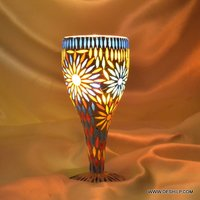 Big Ice Cup Shape Mosaic Glass Candle Holder