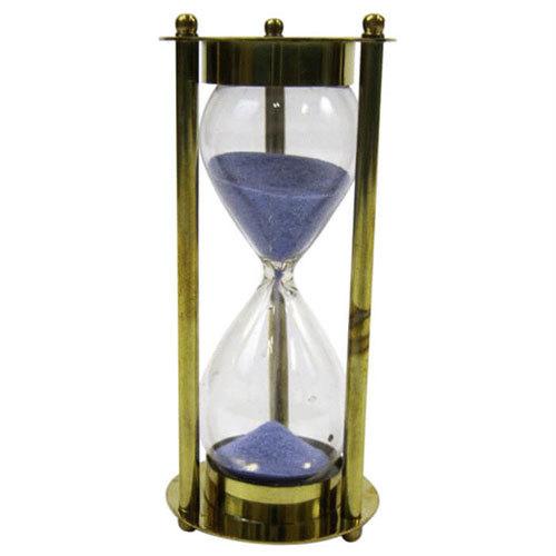 Brass 5 Minute Timer Purple Sand