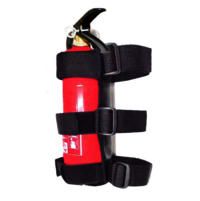 Fire extinguisher strap