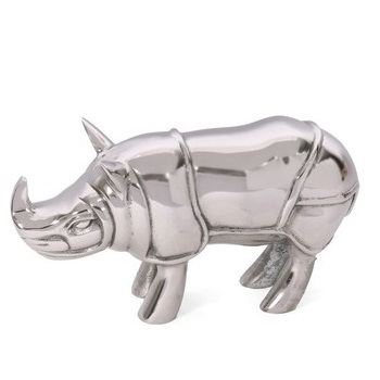 Rhino Animal Statue Aluminium Metal Sculpture